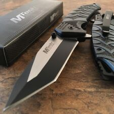 "8"" MTECH USA Tanto Spring Assisted Tactical Folding Pocket RESCUE Knife Open NEW"