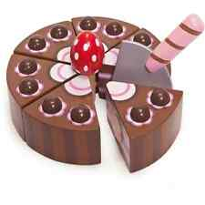 Le Toy Van Chocolate Gateau | Wooden Toy Chocolate Cake Toy with Slicer