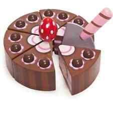 Le Toy Van CIOCCOLATO GATEAU | giocattolo in legno giocattolo torta al cioccolato con AFFETTATRICE