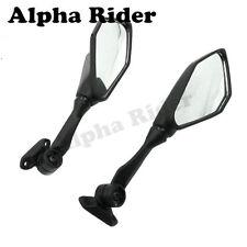 Black Rear View Mirrors For Kawasaki Ninja 300 EX300 EX300R ZX6R 636 2013-2017
