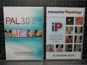 NEW - Practice Anatomy Lab PAL 3.0 And Interactive Physiology IP System Suite
