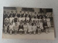 1932s Australian School Class  Photo Taree Postcard    ( Lot P1)