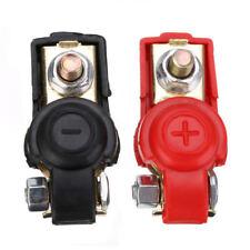 Paire de 2 cosses de batterie Isolées - Connecteurs 12v 24v auto moto - NEUF
