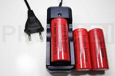3 PILE RECHARGEABLE 7200mAh 26650 3.7V Li-ion BATTERIE BATTERY + CHARGEUR GTX-08