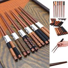 6Pair/set Handmade Wooden Chopsticks Classic Japanese Natural Chestnut Wood Gift