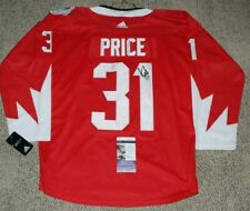 MONTREAL CANADIENS CAREY PRICE SIGNED TEAM CANADA WORLD CUP JERSEY JSA COA