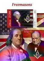 Liberia Freemasons Stamps 2020 MNH Freemasonry George Washington Churchill 1v SS