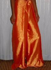 Trousers Thai Silk Palazzo Wrap Flared Leg Fisherman Ladies Womens Orange Pants