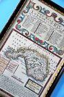 Emanuel Bowen Antique 1700's map Glamorganshire route London St Davids Wales