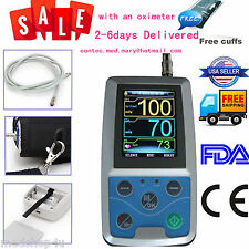 Contec NIBP Monitor 24Hr Ambulatory Blood Pressure Holter +SOFTWARE+Oximeter.FDA