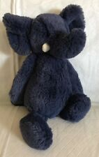 "Jellycat London Elephant Bashful Blue Soft Floppy Plush Stuffed Animal  12"" Long"