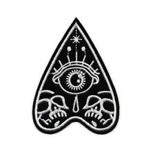 "PLANCHETTE IRON ON PATCH 4"" Embroidered Black White Ouija Occult Mystic Eye"