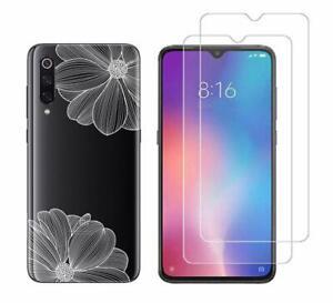 Xiaomi MI 9 -  Pack 2 films en verre trempé protection écran + coque fantaisie