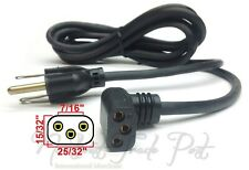 Belden Oval Oblong 3-Prong AC Power Cord For Vintage Electronics - New Old Stock