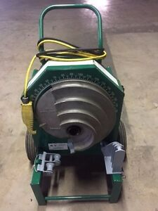 "Greenlee 555 Deluxe Conduit Pipe Bender 2 RIGID Shoes 2 Rollers 1/2""-2"" IMC EMT"