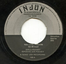 HEAR - Rare Rockabilly 45 - Groovey Joe Poovey - Ten Long Fingers - Injun # 100