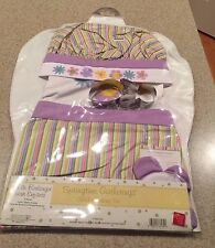 Springtime gathrings child baking set chef apron hat  & cookie Cutter set