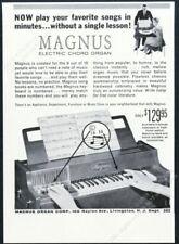 1959 Magnus Chord Organ photo vintage print ad