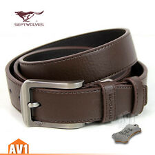 Classic/Jeans Men's gift. Genuine real leather Cow skin Pin Buckle Belt. Casual