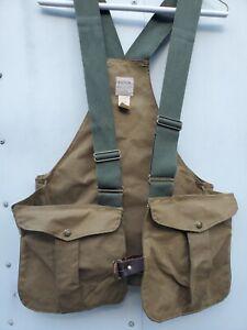 Vintage C.C.Filson Oil Skin Cloth Hunting Vest FISHING Men's Size REGULAR 30