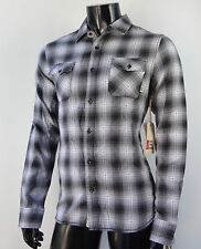 New Vans Monterey Gray Flannel Mens L/S Casual T Shirt Mens Size Small VNS-145