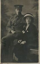 WW1 Private Jewell ? Royal Marines in khaki & Girlfriend ? Royal Naval Division