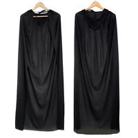 1xGothic Hooded Cloak Wicca Robe Medieval Witchcraft Cape Halloween Fancy Dlxq