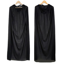 1xGothic Hooded Cloak Wicca Robe Medieval Witchcraft Halloween Fancy Dress.