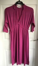 Ladies For Joseph Magenta Dress  - Size Medium