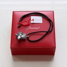 BACCARAT CRYSTAL BLOSSOM SILVER BRONZED SILVER 1 FLOWER NECKLACE CHOKER MIB