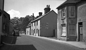 B/W Negative Overton Hampshire Motor Service Garage 1940s +INC © DB496