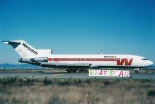 "Western A/L Color Photo B-727S Jet San Francisco  (4"" x 6"")"