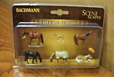 BACHMANN SCENE SCAPES HORSES HO SCALE FIGURES