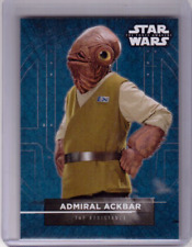 ADMIRAL ACKBAR 2017 Topps Star Wars The Force Awakens Character Sticker Card #15