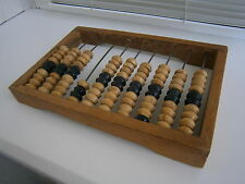 """Vtg Soviet Counting Frame 12"""" Wood Abacus Beads Russian Shop Merchant USSR 1900s"""