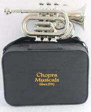 Classic Pocket Trumpet 3 Valve with Hard Case+Mouth Piece Free Shipping