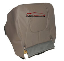 2002 Dodge Ram 1500 3500 Driver Bottom Synthetic Leather Seat Cover Taupe Gray