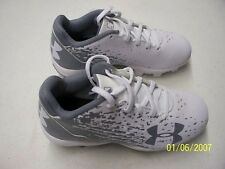 Under Armour Leadoff Low RM Jr Cleats White and Gray Size 12K NEW  FREE SHIPPING