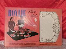 Vintage Roylie Place Mats White Paper lace Doilles