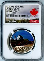 2017 CANADA NGC FIRST RELEASES PF70 MATTE SILVER PANMURE ISLAND S$10!