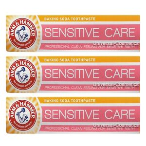 3 Pack Arm and Hammer Sensitive Care Toothpaste 125g