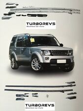 NEW BLACK FULL LENGTH ROOF RAIL RACK BARS FOR LAND ROVER DISCOVERY 3 AND 4