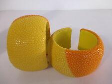 DANNIJO Loma Colorblock Stingray Cuff Bracelet NWOT $265 Orange Yellow