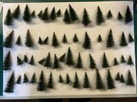 Großes Konvolut Tannen, Stecktannen, Bäume, 58 Stück, H0, Schnäppchen !!!