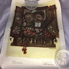 Sister Maria Innocentia Hummel Print Goebel Collectors' Club Boy/ Girl at Window