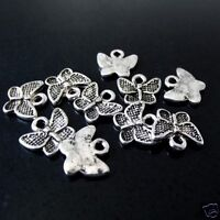 20 x Tibetan Silver Butterfly Pendant Charms 12mm x 10mm