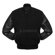 Superb Genuine Leather Sleeve and Wool Blend Letterman College Varsity Jackets