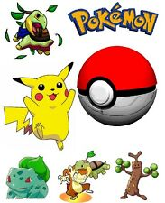 Pokemon Scrapbooking Craft Sticker Sheet Set #1