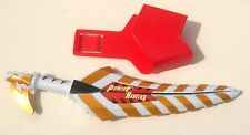 2003 Bandai Power Rangers Weapons Dino ~ WHITE DRAGO SABRE / SWORD with Holster