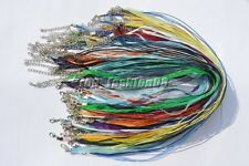 LOT 20X Organza Voile String Ribbon Necklace Silk Cords Colorful Adjust DIY Gift